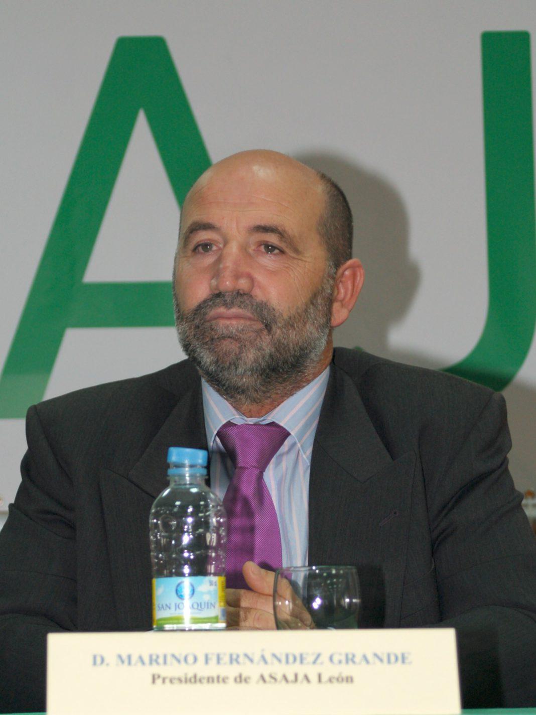 Marino Fernández Grande, representante del sector remolachero