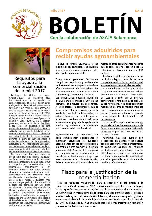 Boletín apicultura julio 2017
