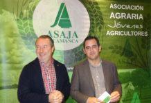 El líder de la organización en ámbito regional, Donaciano Dujo, y el provincial, Juan Luis Delgado. Foto: ASAJA Salamanca.