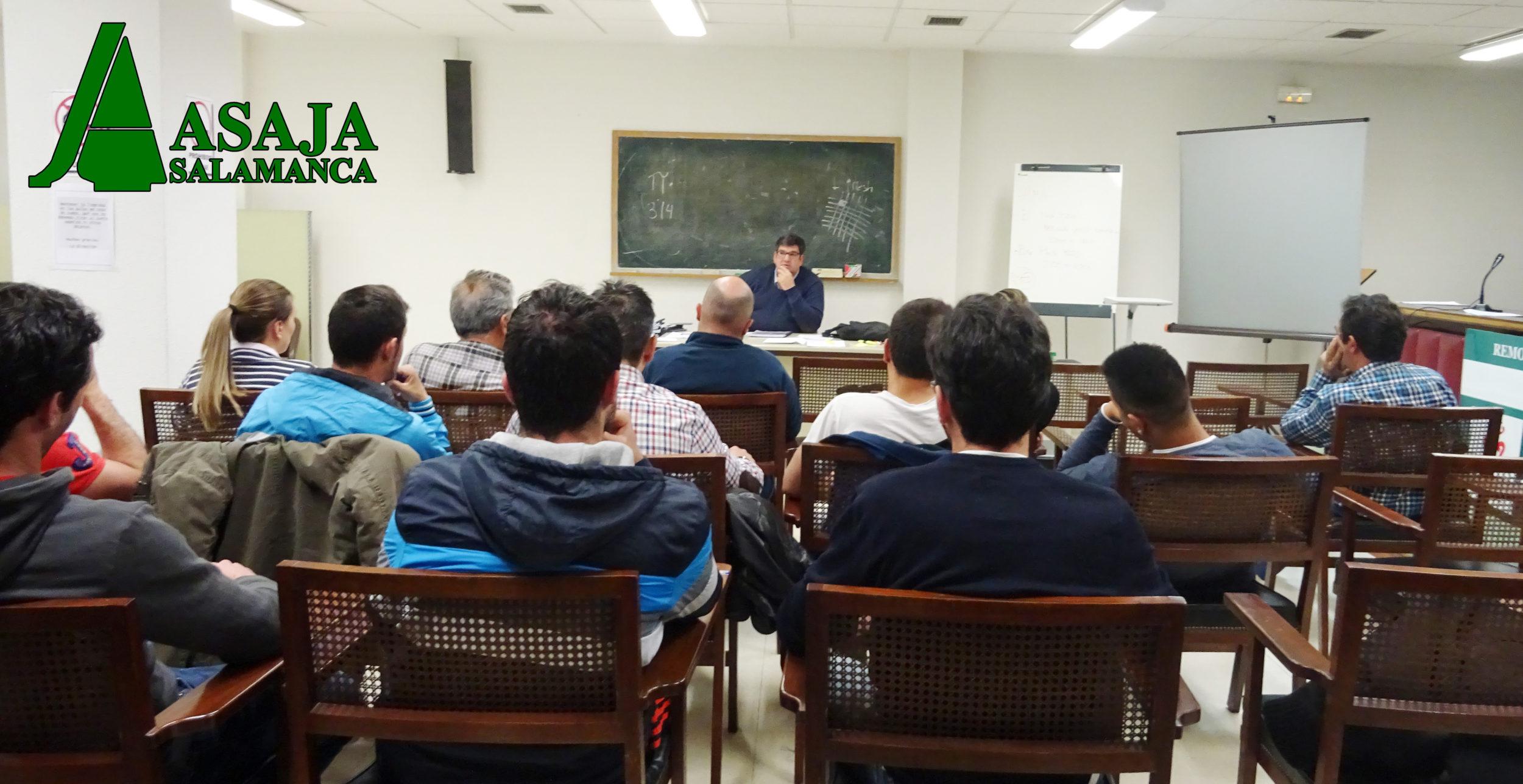 Uno de los cursos impartidos por ASAJA Salamanca. Foto: ASAJA Salamanca
