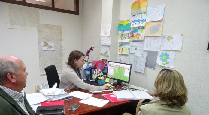 Técnico, en plena realización de la Solicitud Única 2018 en las oficinas provinciales de ASAJA. FOTO: ASAJA Salamanca