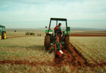 Un joven, trabajando en el campo. FOTO: ASAJA Salamanca.