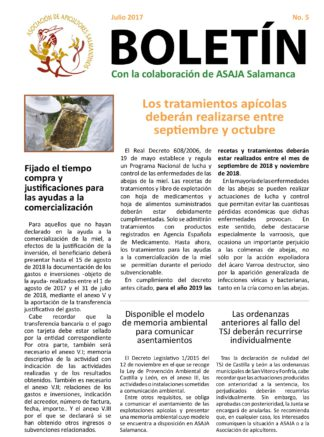 Boletín apicultura julio 2018
