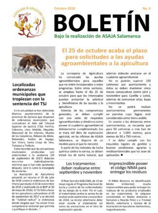 Boletín apícola octubre 2018