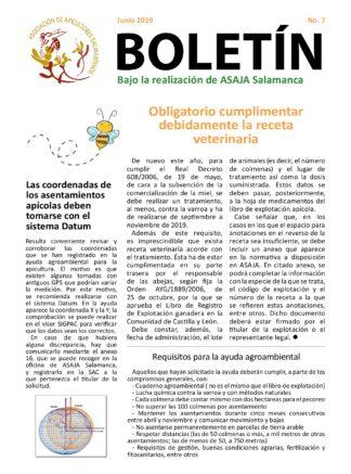 Boletín apícola junio 2019