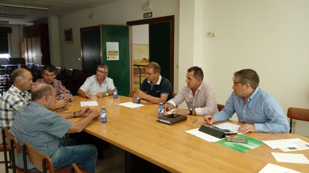 Sectorial de patata de ASAJA Salamanca, reunida el 12 de julio de 2019.