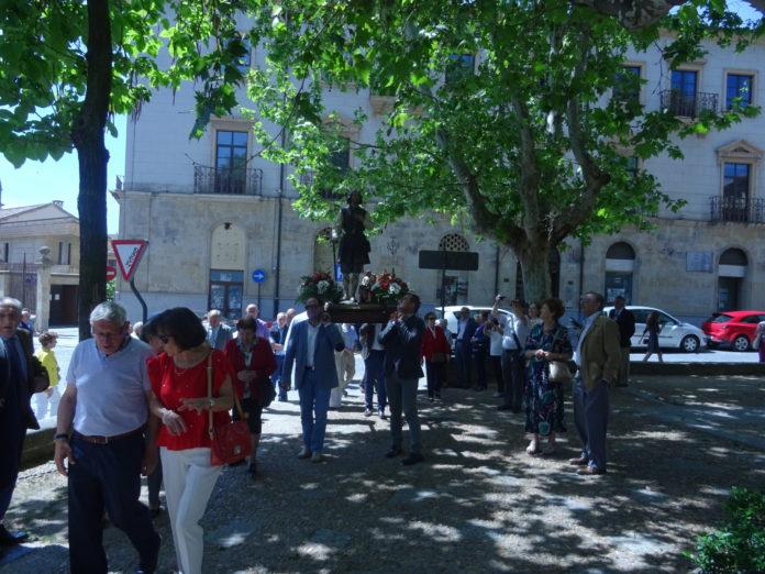 La procesión del santo, en 2019. FOTO: VGA