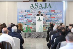 Delgado, en el discurso de inauguración de la sede central.  Manu Laya