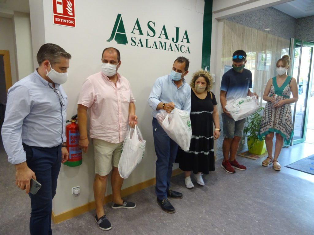 Mariano Olea (gerente), Javier Jiménez, Juan Luis Delgado (presidente), Leticia Martín, Mario Sánchez y Verónica González (jefa de prensa). FOTO: ASAJA Salamanca