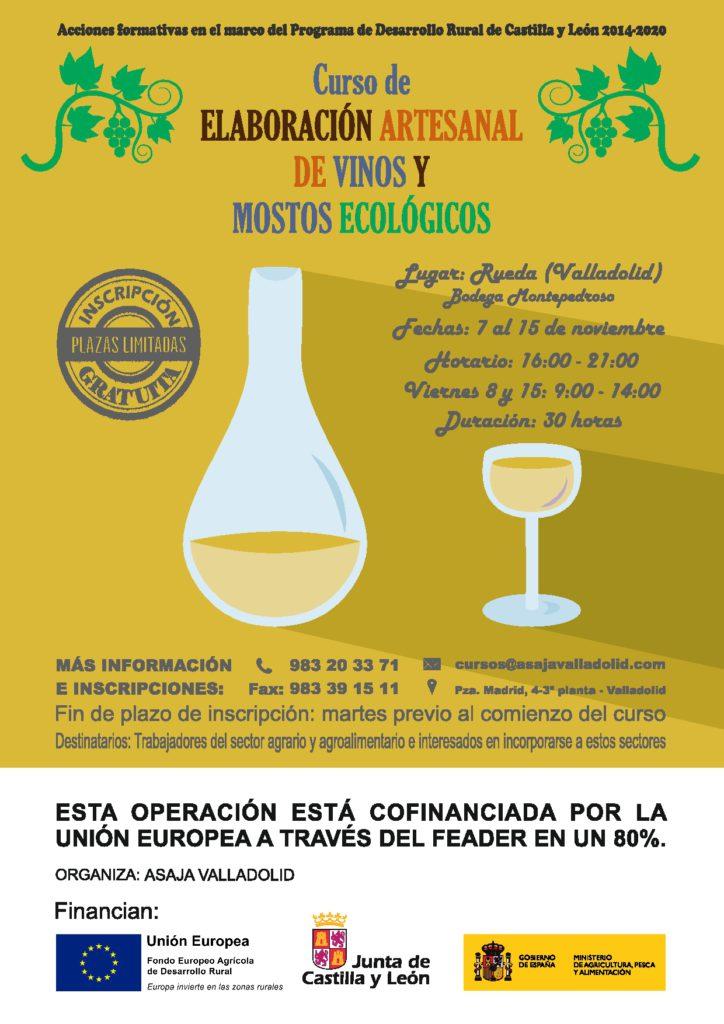 Cartel curso vino ecologico