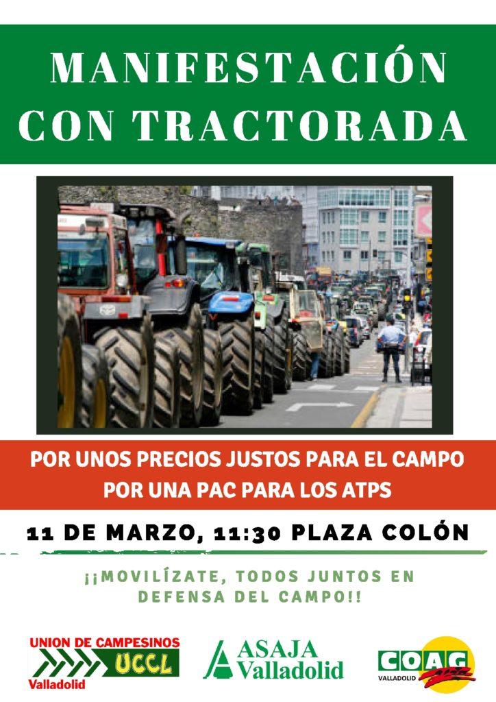 El 11 de marzo, todos a la Plaza de Colón en Valladolid