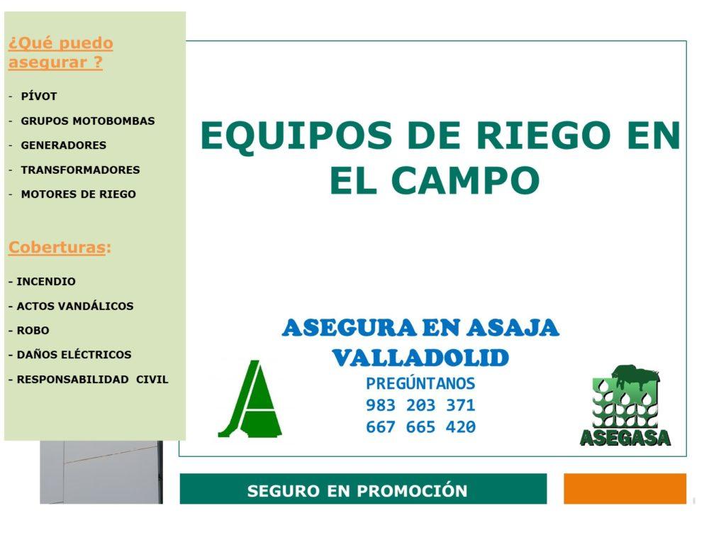 asegura EQUIPOS DE RIEGO