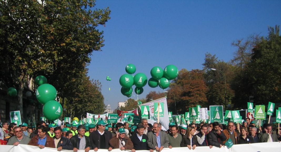Manifestación por la dignidad del campo, Asaja Castilla y León