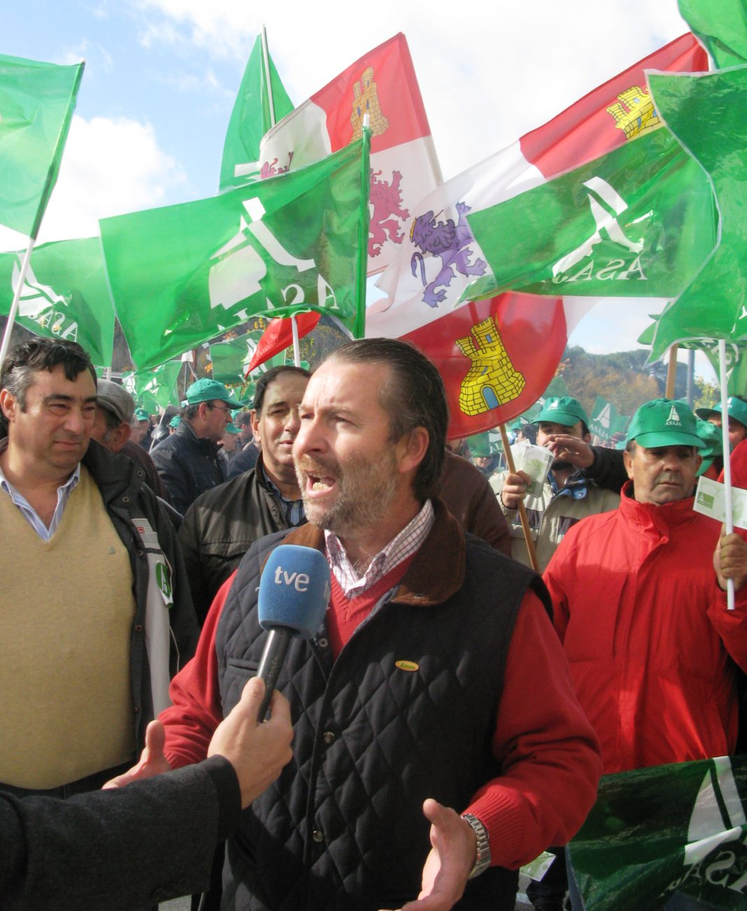 Donaciano Dujo en manifestación