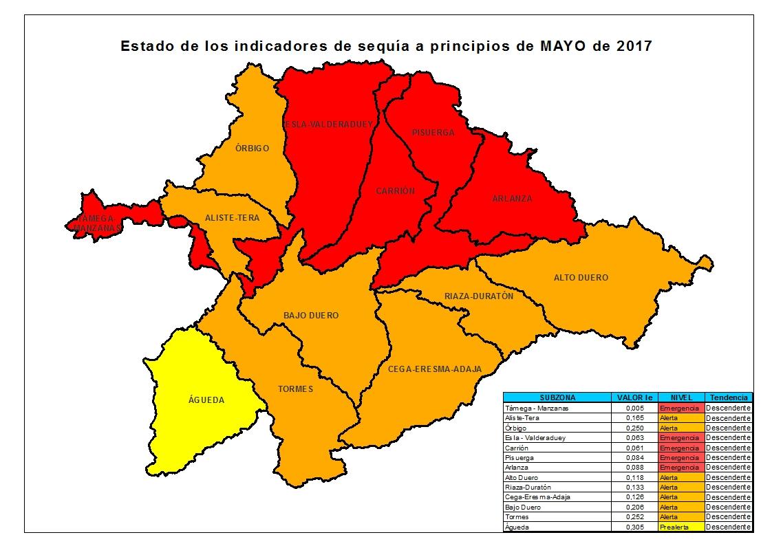 Cuenca Del Duero Mapa.Nuevo Mapa De Los Indicadores De Sequia En La Cuenca Del