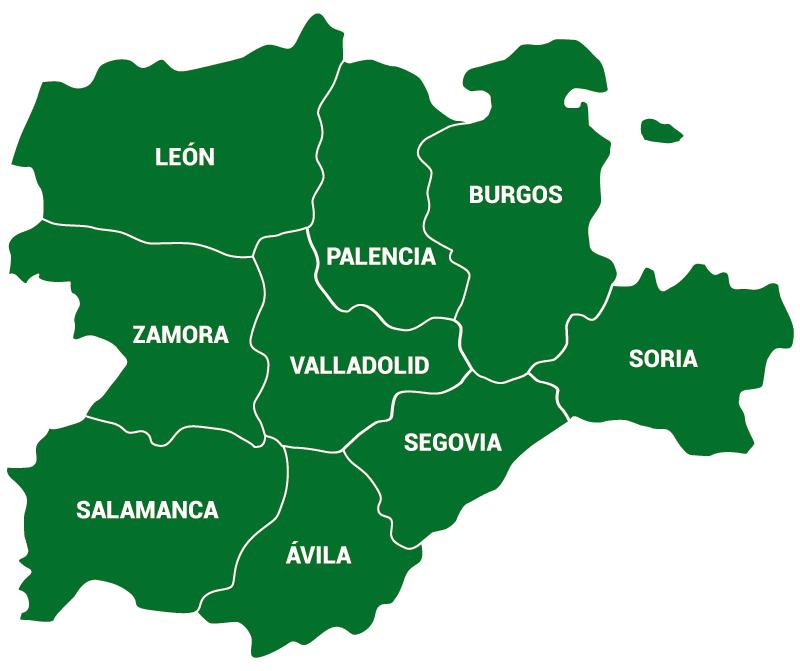 Mapa Castilla Y Leon.Mapa Provincias Castilla Y Leon Asaja Castilla Y Leon