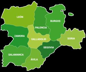 Mapa Castilla y León