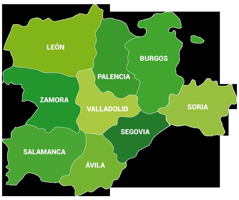 Mapa Castilla Y Leon.Mapa Castilla Y Leon Asaja Castilla Y Leon