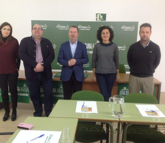 Encuentro de los responsables de ASAJA en Extremadura y en Castilla y León