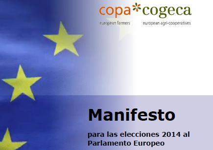 Manifiesto COPA-COGECA para las elecciones 2014 al Parlamento Europeo